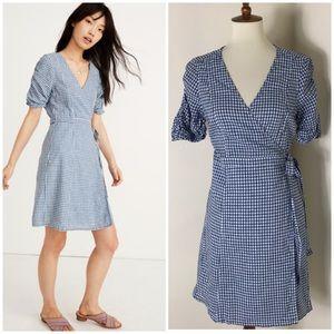 Madewell gingham wrap dress
